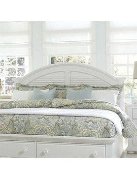 Liberty Furniture Summer House I Queen Panel Headboard In Oyster White by Liberty Furniture