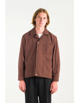 Menswear | Cotton Twill Utility Jacket, Rosewood by Olive