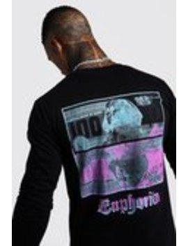 Langärmeliges T Shirt Mit Print Auf Front Und Rücken by Boohoo Man