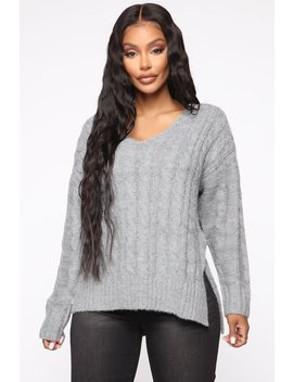 Trying To Understand Oversized Sweater   Heather Grey by Fashion Nova