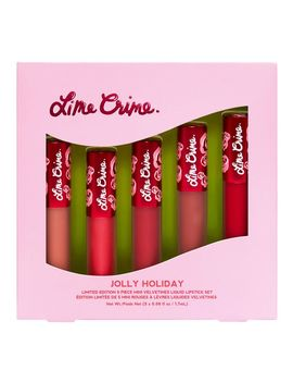 Jolly Holiday 5 Piece Mini Velvetines Set by Lime Crime