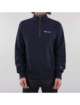 Champion Reverse Weave Small Script Half Zip Sweatshirt by Urban Industry