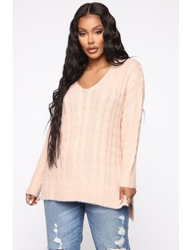 Trying To Understand Oversized Sweater   Pink by Fashion Nova