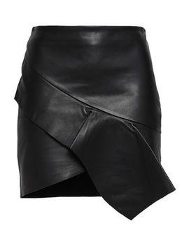 Lauren Wrap Effect Draped Leather Mini Skirt by Ba&Sh