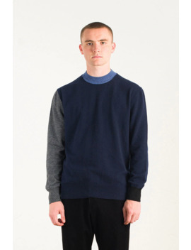 Menswear | Block Knit, Navy by Olive