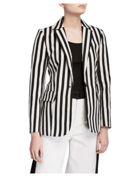 Classic Striped Blazer by Frame