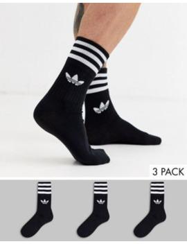 Calcetines Deportivos Negros Quarter De Adidas Originals by Adidas Originals