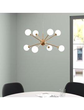 Macy 8 Light Sputnik Chandelier by Hykkon
