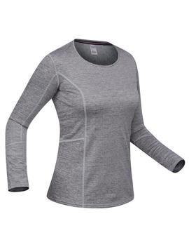 Wedze Women's Base Layer Ski Top 500   Grey by Wedze