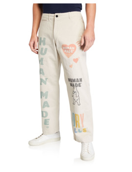 Men's Typographic Military Chino Pants by Human Made