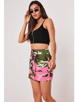 pink-camo-utility-mini-skirt by missguided