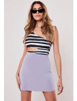 Lilac Lettuce Hem Mini Skirt by Missguided
