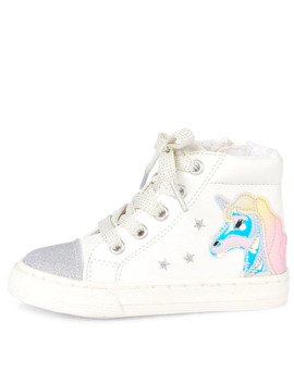 Toddler Girls Glitter Unicorn Hi Top Sneakers by Children's Place