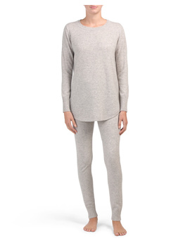 Cashmere Scoop Neck Tunic Lounge Set by Tj Maxx