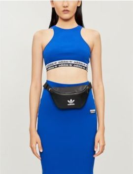 Branded Cropped Stretch Jersey Vest Top by Adidas Originals