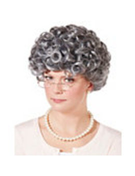 Curly Old Woman Wig by Spirit Halloween