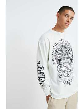 Uo Grateful Beings White Long Sleeve T Shirt by Urban Outfitters