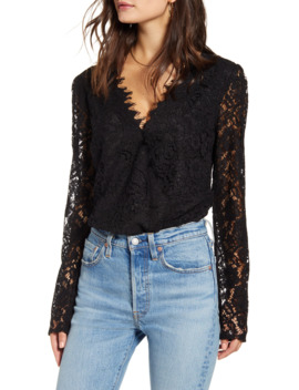 X Influencers Long Sleeve Lace Bodysuit by Wayf