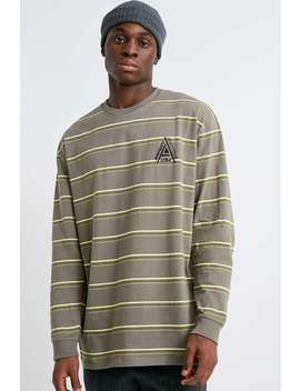 Uo Stripe Long Sleeve Skate T Shirt by Urban Outfitters