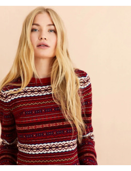 Fair Isle Stretch Merino Wool Sweater by Brooks Brothers