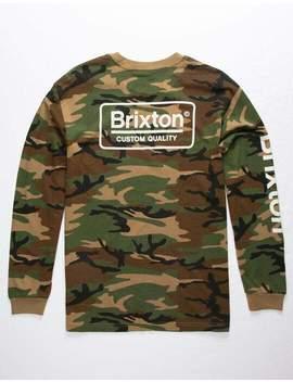 Brxton Palmer Ii Camo Mens T Shirt by Brixton