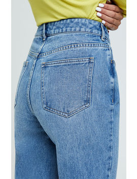 Pac Sun Party Blue Mom Jeans by Pacsun