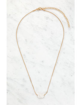La Hearts Pearl Butterfly Necklace by Pacsun