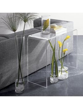 Acrylic Console Table   15in Depth by Fox Hill Trading