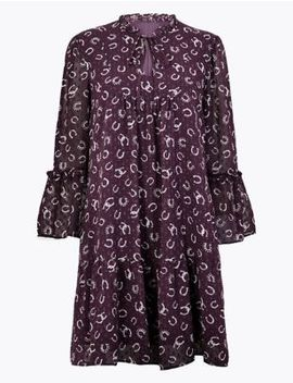 Printed Relaxed Mini Dress by Marks & Spencer