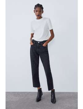 Hi Rise Straight Leg Jeans by Zara