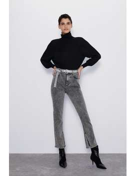 Z1975 High Rise Jeans With Rhinestone Belt by Zara
