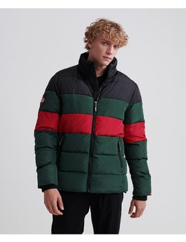 Colour Stripe Sports Puffer Jacket by Superdry