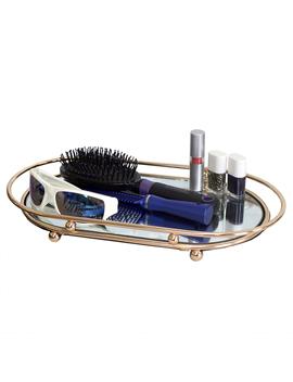 Luxury Mirror Vanity Tray, Gold by Home Basics