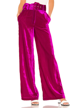 X Revolve Mona Belted Pant In Magenta by House Of Harlow 1960