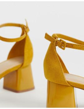 Bershka Point Toe Mid Shoes In Mustard by Bershka