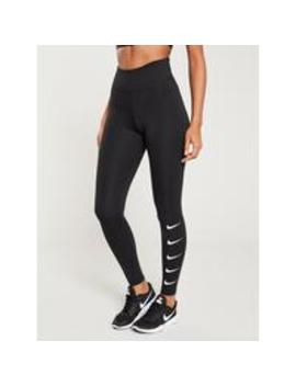 Run Swoosh Legging   Black by Nike