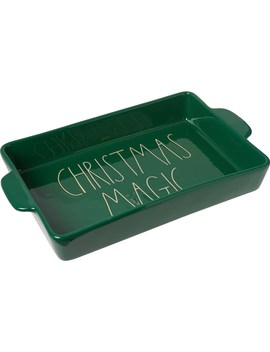 "Rae Dunn Christmas Magic Lasagna Baker   14x10"" by Rae Dunn"