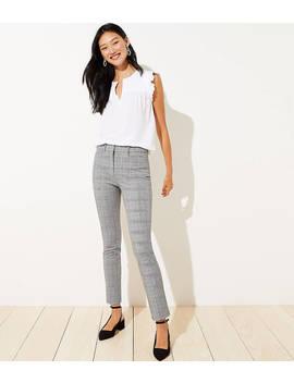Petite Plaid High Waist Skinny Ankle Pants by Loft