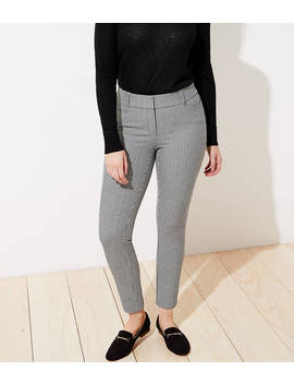 Petite Checked Skinny Ankle Pants In Curvy Fit by Loft
