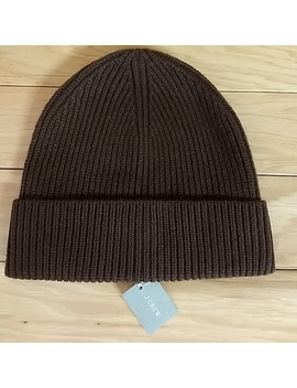 J. Crew Cashmere Beanie Chester Brown Winter Hat   Nwt by J. Crew
