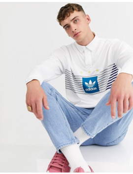 Adidas Skateboarding Rugby Polo In White by Adidas