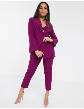 Asos Design Petite Pop Suit Blazer In Purple by Asos Design