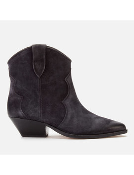 Isabel Marant Women's Dewina Low Heel Ankle Boots   Faded Black by Isabel Marant