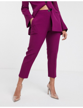 Asos Design Petite Pop Slim Suit Trousers In Purple by Asos Design