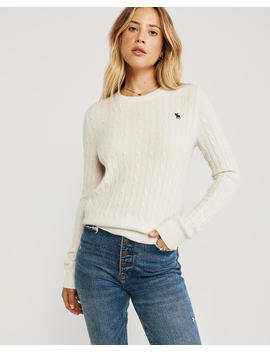 Cashmere Cable Crew by Abercrombie & Fitch