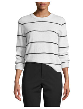 Striped Cashmere Pullover Sweater by Vince