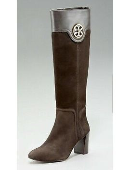 Tory Burch Selma Suede Tall Riding Boots Brown Size 8, $495 by Tory Burch