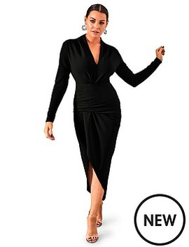Sistaglam Loves Jessica Wright Ambey Long Sleeved Midi Dress by Sistaglam Loves Jessica
