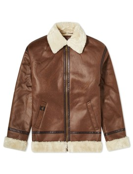 Alpha Industries B3 Faux Leather Flight Jacket by Alpha Industries