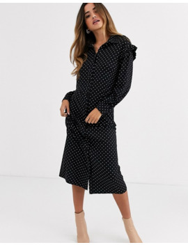 Asos Design Mono Spot Shirt Dress by Asos Design